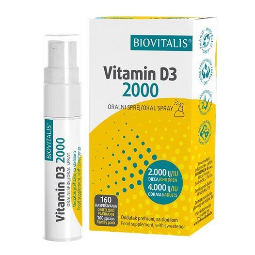 BIOVITALIS VITAMIN D3 2000 SPREJ 20ML